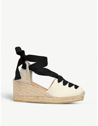 LK Bennett Martha ribbon espadrille sandals