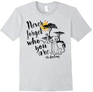 Disney Lion King Simba Never Forget Graphic T-Shirt