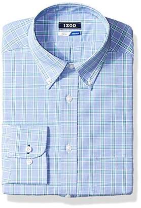 Izod Men's Dress Shirts Regular Fit Stretch Plaid
