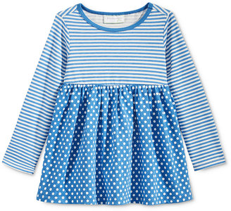 First Impressions Long-Sleeve Stripes & Dots Tunic, Baby Girls (0-24 months), Only at Macy's $13 thestylecure.com