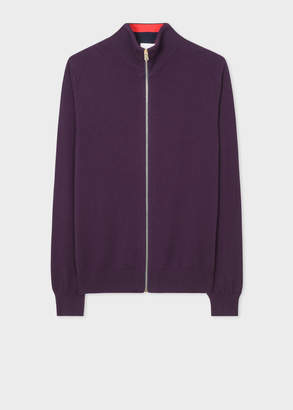 Paul Smith Men's Violet Cashmere Zip-Through Cardigan