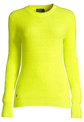 Polo Ralph Lauren Women's Neon Ribbed Crewneck Sweater