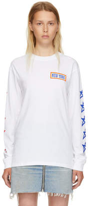 6397 White Long Sleeve New York Boy T-Shirt