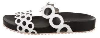Sophia Webster Leather Scalloped Sandals