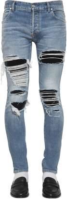 Balmain 15cm Super Destroyed Slim Denim Jeans