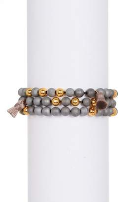 Gorjana Hannah Drusy Tassel Wrap Bracelet