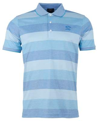 7c970d993 Paul And Shark Multi Coloured Striped Polo Shirt Colour: BLUE, Size: S