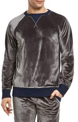 2xist Velour Crewneck Sweatshirt