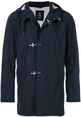 Fay hooded toggle fastening coat