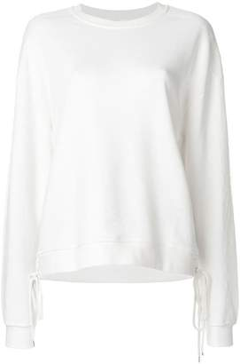 McQ lace-up detail sweatshirt