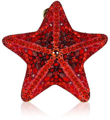 Judith Leiber Couture Fromia Starfish Crystal Clutch Bag, Red