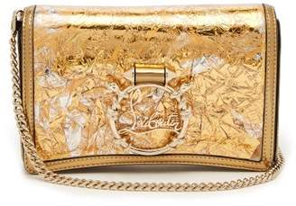 Christian Louboutin Rubylou Foil And Leather Clutch - Womens - Gold