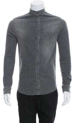Pierre Balmain Denim Button-Up Shirt