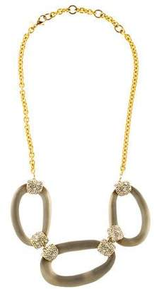 Alexis Bittar Encrusted Lucite Link Necklace