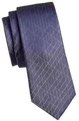 Calvin Klein Geo Optix Slim Silk Tie