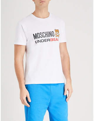 Moschino Underbear logo-print stretch-cotton T-shirt