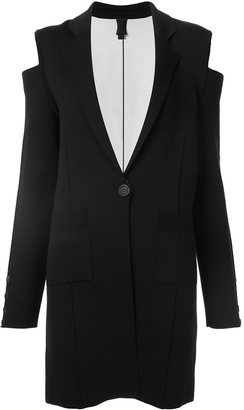 Vera Wang cold shoulder knit coat $1,795 thestylecure.com