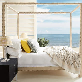OKA Zamindar Four Poster Bed, King With Mattress