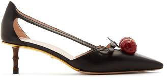 Gucci Unia crystal-cherry pumps