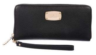 Michael Kors Leather Zip Continental Wallet