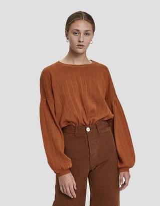 Stelen Jannie Balloon Sleeve Sweater in Rust
