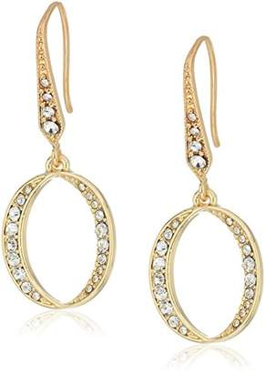 Laundry by Shelli Segal Crossover Pave Hoop Earrings