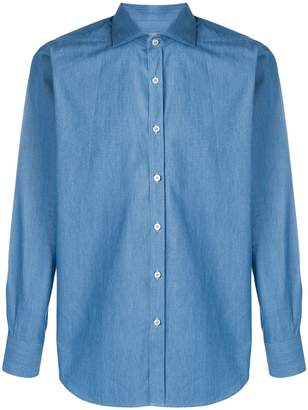 Canali slim-fit denim shirt