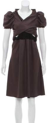 David Szeto Wool-Blend Knee-Length Dress