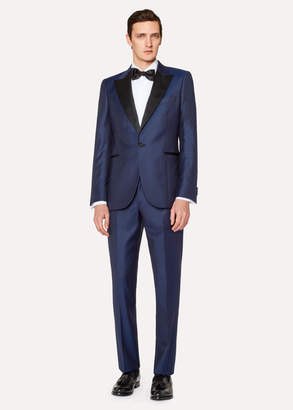 Paul Smith The Soho - Men's Tailored-Fit Blue Micro Check Evening Suit