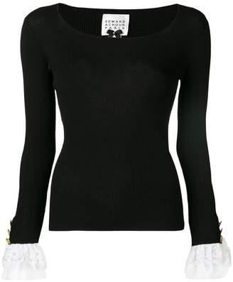 Edward Achour Paris lace cuff sweater
