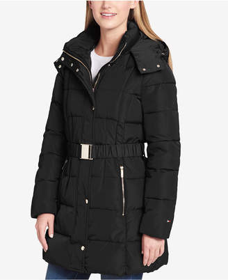 Tommy Hilfiger Belted Hooded Puffer Coat