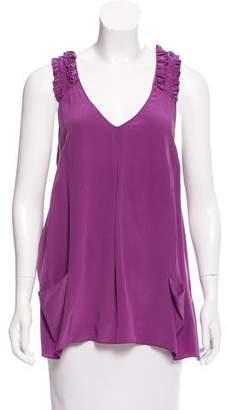 Rebecca Taylor Sleeveless Silk Top