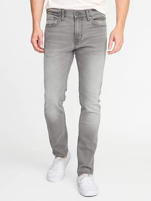 Old Navy Skinny Built-In Flex Distressed Gray Jeans for Men
