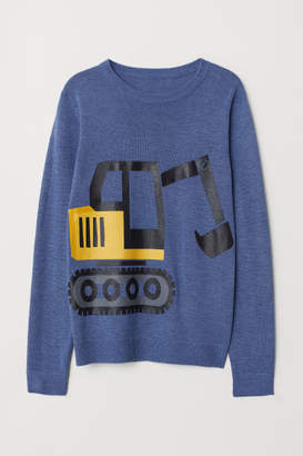 H&M Fine-knit Sweater - Blue