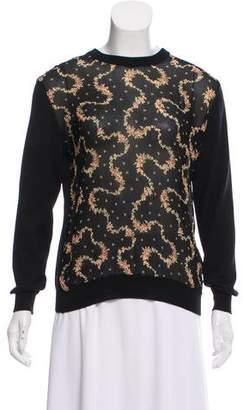 Blumarine Floral Print Wool Sweater