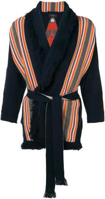 Alanui striped knit cardigan