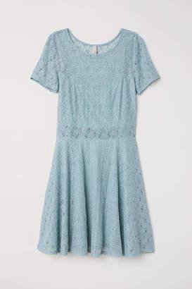 H&M Short Lace Dress - Light turquoise - Women