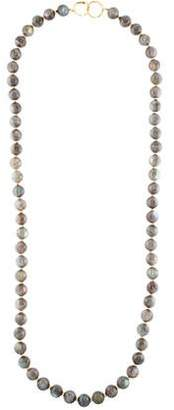 Syna 18K Diamond-Accented Labradorite Bead Strand Necklace