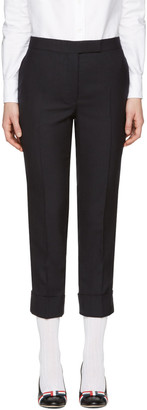 Thom Browne Navy Classic Backstrap Trousers $1,080 thestylecure.com