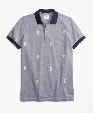 Brooks Brothers Embroidered Pineapple Cotton Pique Polo Shirt