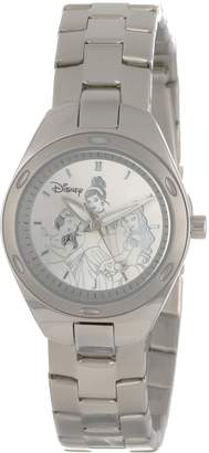 Disney Kids' W000491 Princess Stainless Steel Bracelet Watch