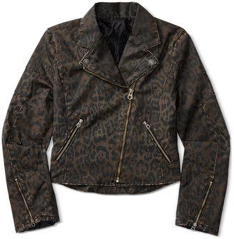 Ralph Lauren Denim Leopard Moto Jacket, Toddler & Little Girls (2T-6X) $115 thestylecure.com