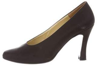Charles Jourdan Satin Pointed-Toe Pumps