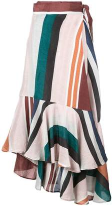 Apiece Apart asymmetrical ruffle skirt