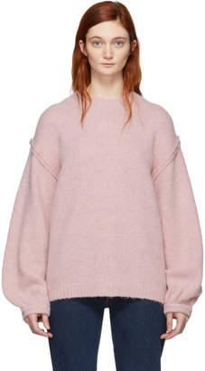 Acne Studios Pink Kiara Chunky Sweater