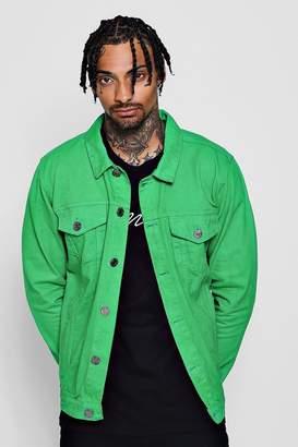 boohoo Green Denim Western Jacket