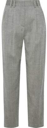 Giorgio Armani Herringbone Wool-Blend Straight-Leg Pants