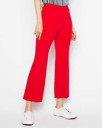Express High Waisted Cropped Flare Pant