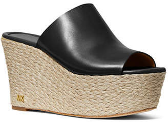 MICHAEL Michael Kors Cunningham Leather Platform Wedge Sandals