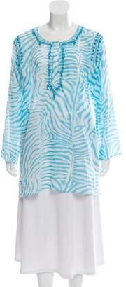Letarte Embellished Printed Tunic w/ Tags